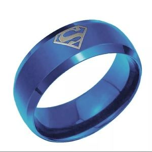 Cool NWOT Superman Stainless Steel  Unisex Ring!